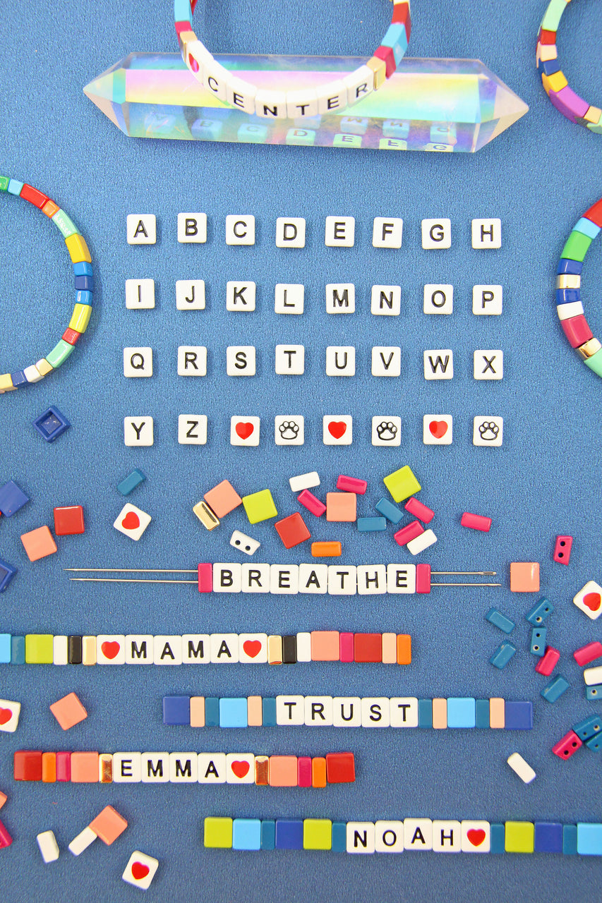 Array of Letter Beads