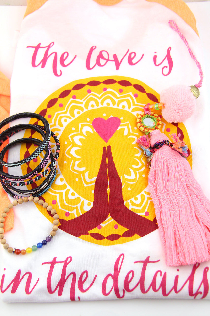 Living (color)FULLY Gift Set: Bracelets, WSW Shirt, Tassel Purse Charm