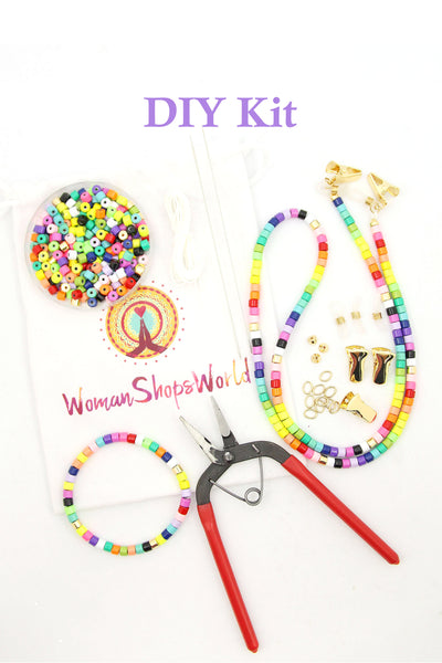 DIY Enamel Bead Mask Necklace Kit, DIY Mask Chain, Eyeglass Strap