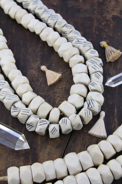 Hand Carved Bone Beads For Jewelry Making Womanshopsworld