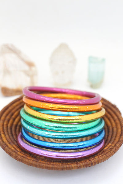 Rainbow Thai Buddhist Temple Bracelets, Mantra Bangle, Assorted Colors & Sizes