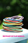 Global Rainbow Arm Party Recycled Bangles from Mali - ShopWomanShopsWorld.com. Bone Beads, Tassels, Pom Poms, African Beads.