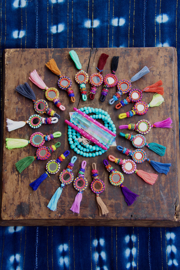 Shorty Tassel Mirror Charms, 1 Piece - ShopWomanShopsWorld.com. Bone Beads, Tassels, Pom Poms, African Beads.