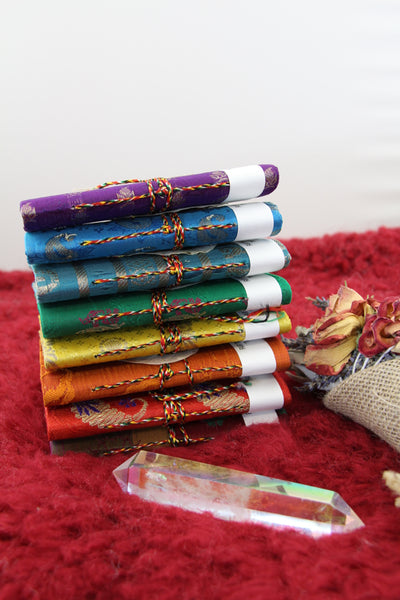 Small Recycled Rag Paper & Sari Silk Journal from Nepal