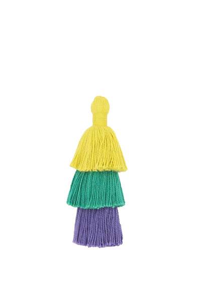 Bright Cotton Tiered Tassels for Earrings