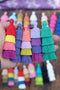 "Tiered Tassel, 3"" Cotton Fringe Pendant for Jewelry Making, 1 piece"