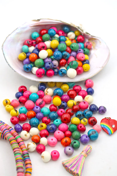 Tutti Frutti Mix: Real, Natural Acai Beads, 10mm, 100 pieces
