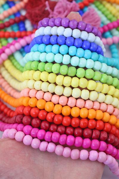 108 Bead Mala: Yoga Inspired Jewelry, Beaded Boho Necklace for Meditation, 14 Colors
