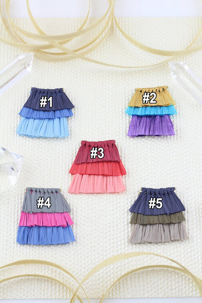 "Tiered Raffia Tassels for Necklace,1.5"" Layered Pendant,Eco-Friendly Necklace Supplies"