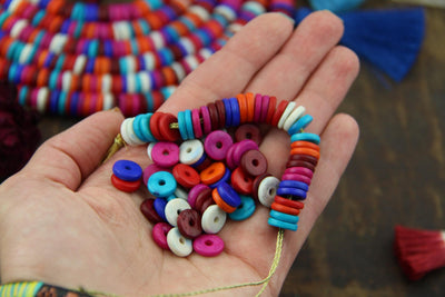 Autumn colored beads