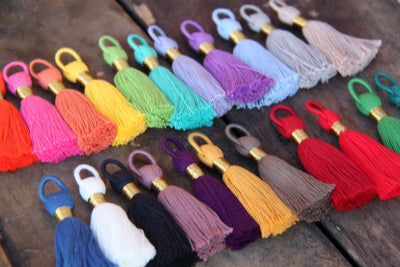 "Tasseltastic: 2 3/8"" Cotton Tassel Pendants, 8+ Pieces"