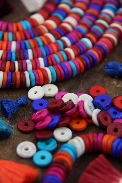 fall colored beads