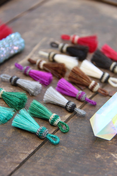 "Mini Mane & Magic Horse Hair, 1.25"" Tassels - ShopWomanShopsWorld.com. Bone Beads, Tassels, Pom Poms, African Beads."