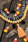 Spooky Halloween Mix: Orange/Black Bead, Tassel, & Pom Pom Craft Kit