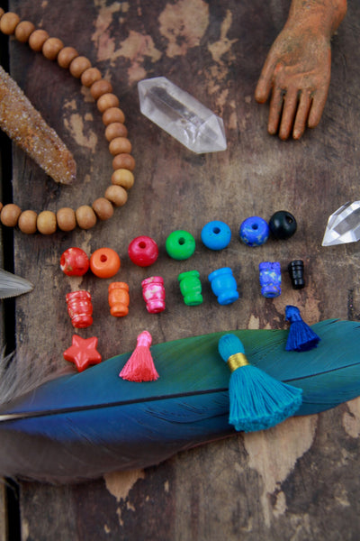 10 mm mix Bone Guru Beads, 3 sets (6 beads), Choose from 7 Colors - ShopWomanShopsWorld.com. Bone Beads, Tassels, Pom Poms, African Beads.