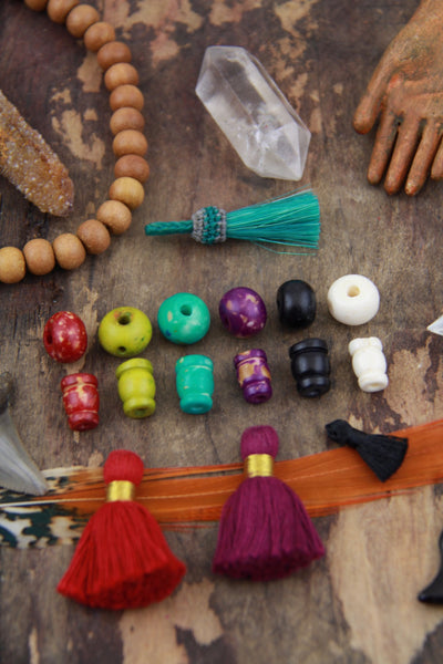 12mm Bone Guru Beads, 3 sets (6 beads) - ShopWomanShopsWorld.com. Bone Beads, Tassels, Pom Poms, African Beads.