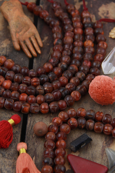 Golden Horn: Grooved Reddish Brown Horn Beads, 10x8mm, 27 pieces - ShopWomanShopsWorld.com. Bone Beads, Tassels, Pom Poms, African Beads.