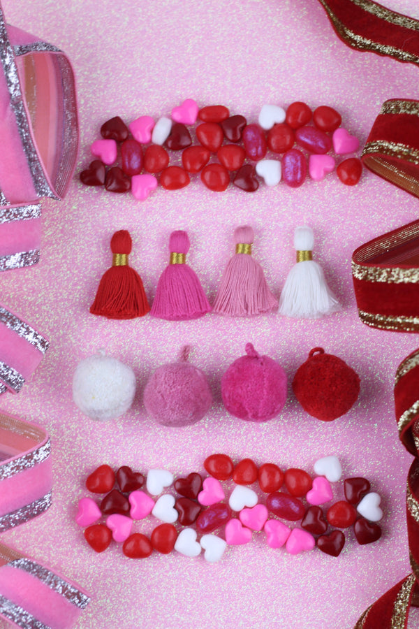My Heart Will Go On: Valentine's Day Tassels & Pom Poms