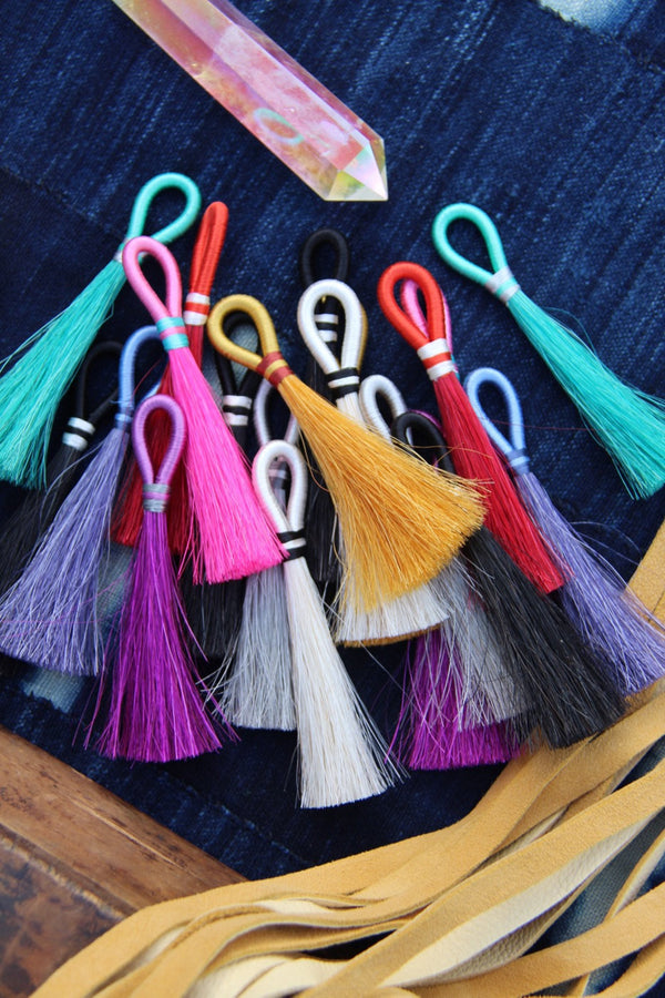 "Mane and Magic Horse Hair Tassels, 4"", 1 Tassel - ShopWomanShopsWorld.com. Bone Beads, Tassels, Pom Poms, African Beads."