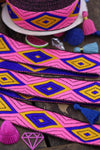 "Cotton Candy Geometry: Neon Ribbon, Trim, Sari Border, 1.25""x1 Yard - ShopWomanShopsWorld.com. Bone Beads, Tassels, Pom Poms, African Beads."