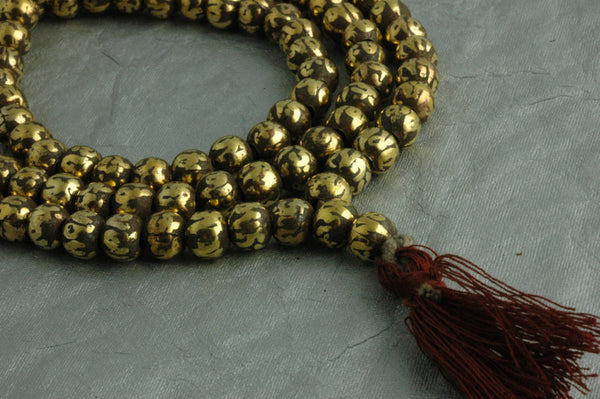 Find your Light: Half Strand, Brass and Copper Hollow 8mm Beads, 54 beads - ShopWomanShopsWorld.com. Bone Beads, Tassels, Pom Poms, African Beads.