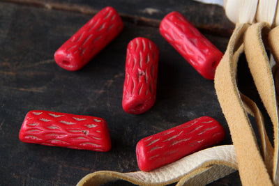 "Red ""Coral Millefiore"" Old African Trade Beads / Rare and Unusual, 2 beads / Antique, Vintage Italian Glass Beads / Nautical, Collectible - ShopWomanShopsWorld.com. Bone Beads, Tassels, Pom Poms, African Beads."