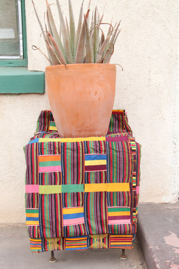 Ewe Kente Cloth from Ghana, Africa / Vintage (1970's), Tribal Woven Textile, Multi-Colored, Large / Wall Hanging, Interior Design, Decor - ShopWomanShopsWorld.com. Bone Beads, Tassels, Pom Poms, African Beads.