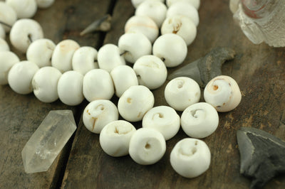 White Caps at Sea: Pure White Nepali Conch Shell Beads18x14mm, 10 loose beads, Nautical Boho Yoga Fashion, Jewelry Making Supplies - ShopWomanShopsWorld.com. Bone Beads, Tassels, Pom Poms, African Beads.