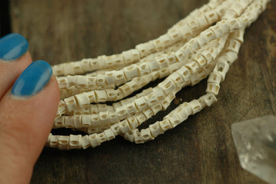 Have a Backbone: African Fish Vertebrae Beads, Approx 3.5x3mm - ShopWomanShopsWorld.com. Bone Beads, Tassels, Pom Poms, African Beads.