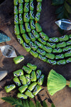 Green < > Arrow: Hand Painted Teardrop Bone Beads, 6x13mm, 16 pieces - ShopWomanShopsWorld.com. Bone Beads, Tassels, Pom Poms, African Beads.