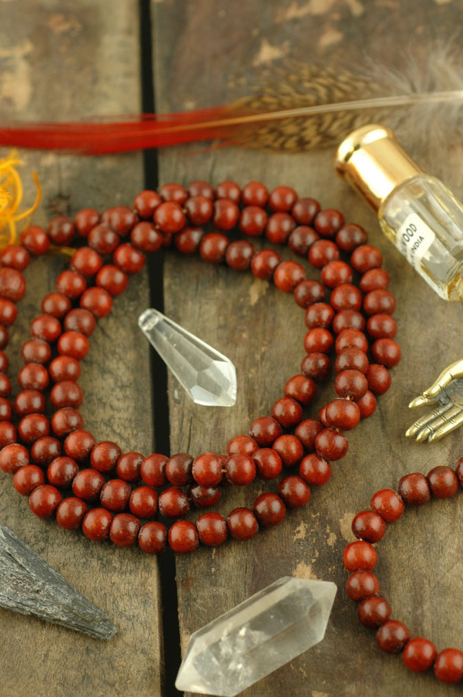 Aromatic 8mm Nepali Rosewood Beads, 108 beads