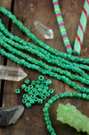 Grass Green Tumbling Dice Bone Beads, 5x5mm, 48 pieces - ShopWomanShopsWorld.com. Bone Beads, Tassels, Pom Poms, African Beads.