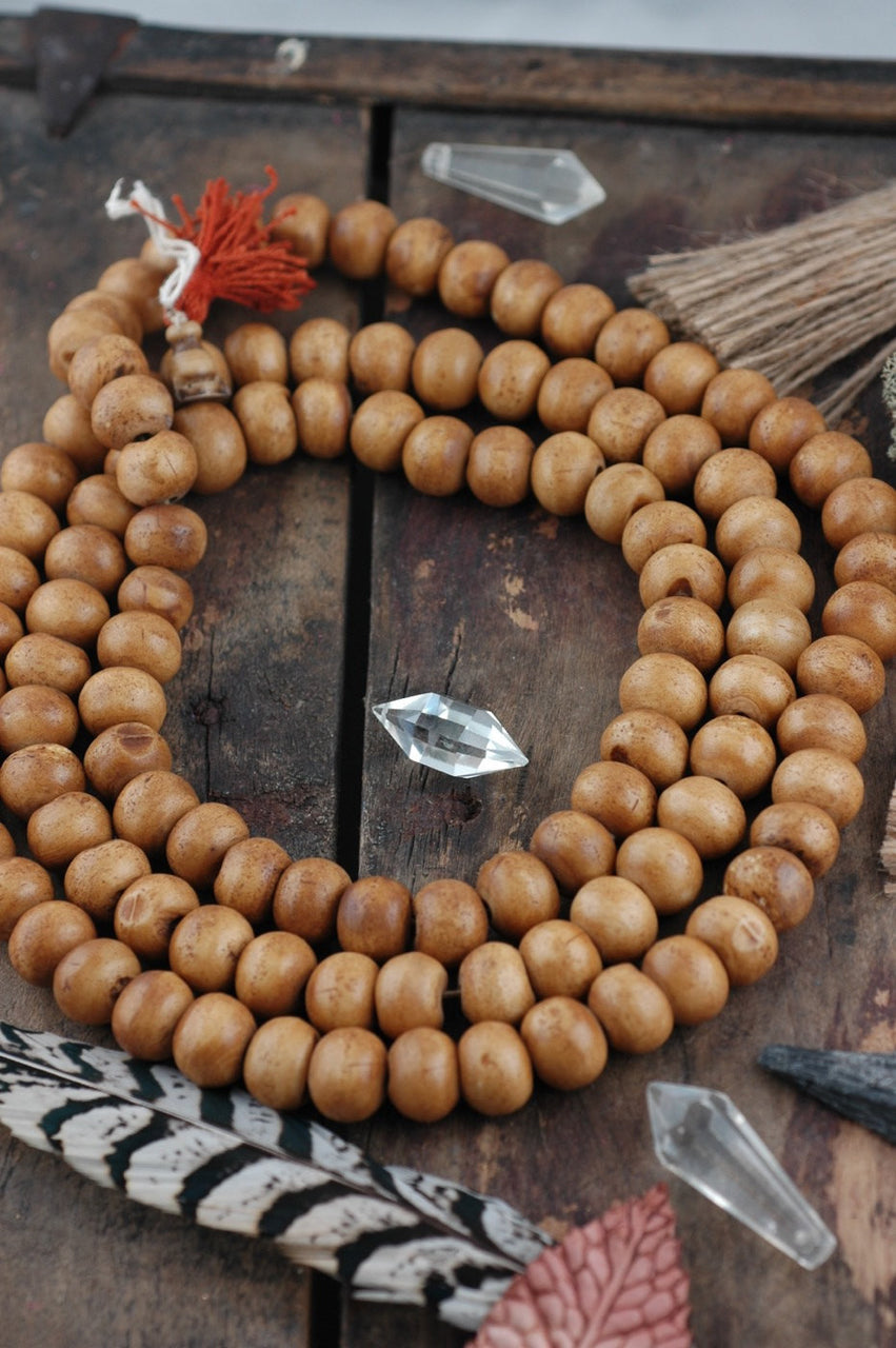 Antiqued Bone Beads: Natural Yak Bone, 14x11mm, 108 bead mala - ShopWomanShopsWorld.com. Bone Beads, Tassels, Pom Poms, African Beads.