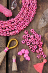 Pink Melon: Hand Carved Bone Beads, 8x10mm, 26 pieces - ShopWomanShopsWorld.com. Bone Beads, Tassels, Pom Poms, African Beads.