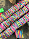 Summer Stripes: Wooden Barrel Beads 16x15mm, 4 pieces