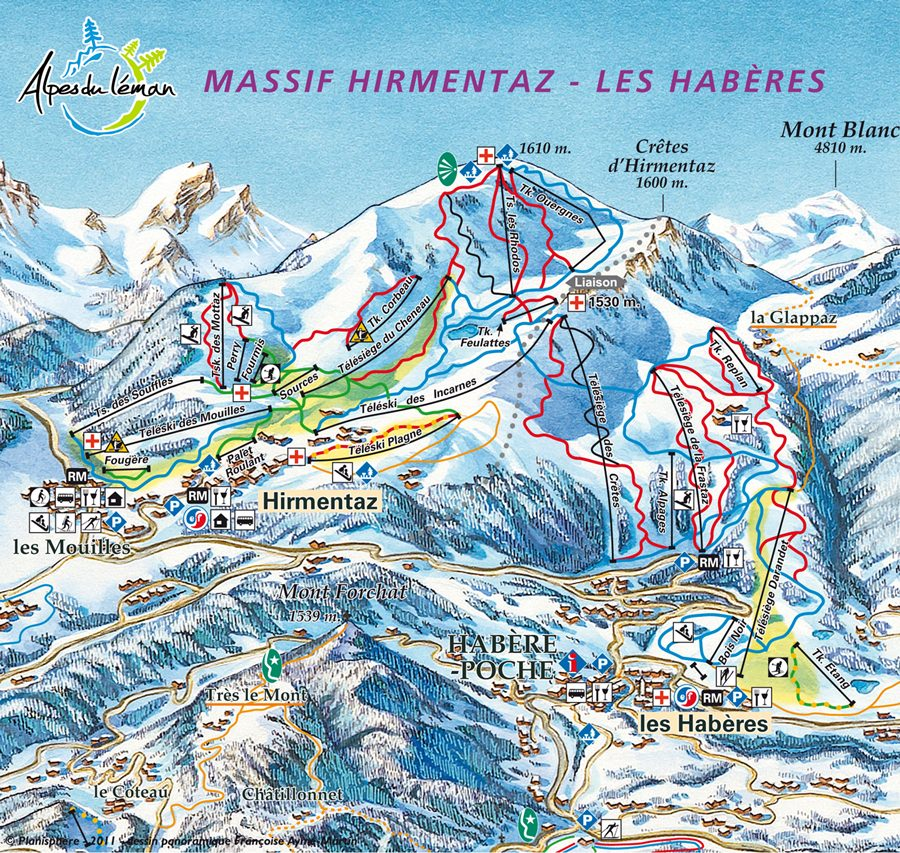 Les Haberes Ski Map
