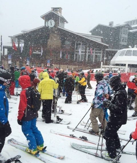 Park City Mountain Resort Opening Day lift line