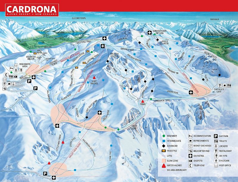 Cardrona Ski New Zealand Trail Map