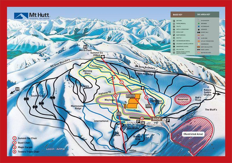 Mt Hutt Ski Trail Map