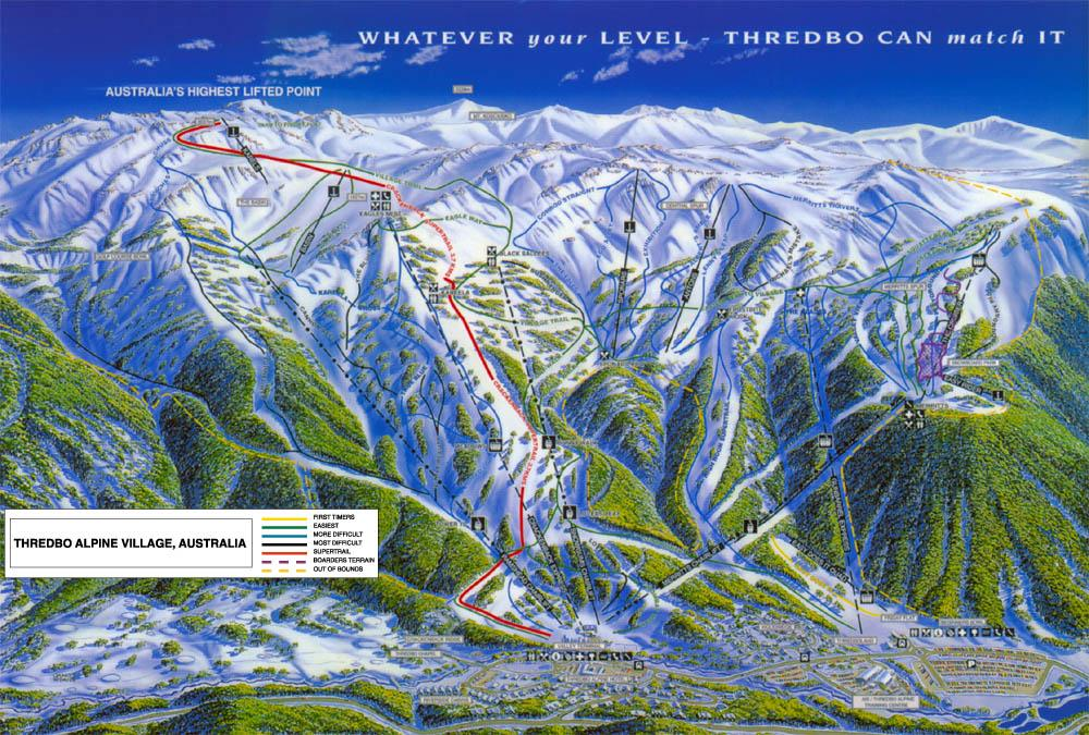 thredbo australia trail map