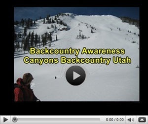 Backcountry Awareness Video Canyons Utah