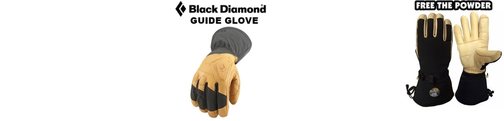 best ski glove: compare BD Guide Glove to Free the Powder