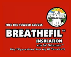 Breathefil Insulation ski gloves Free the Powder