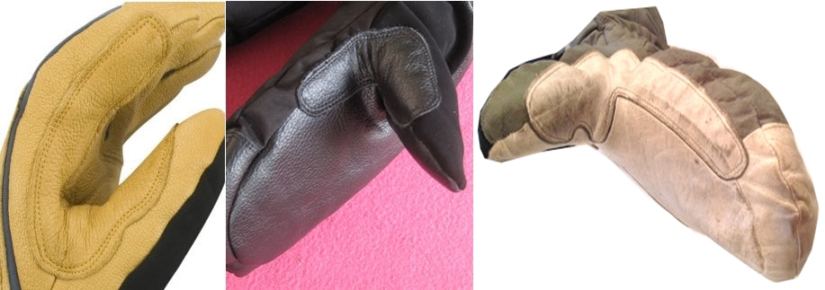 reinforced leather palm ski glove