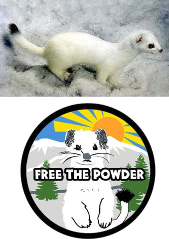 Ermine Free the Powder Logo