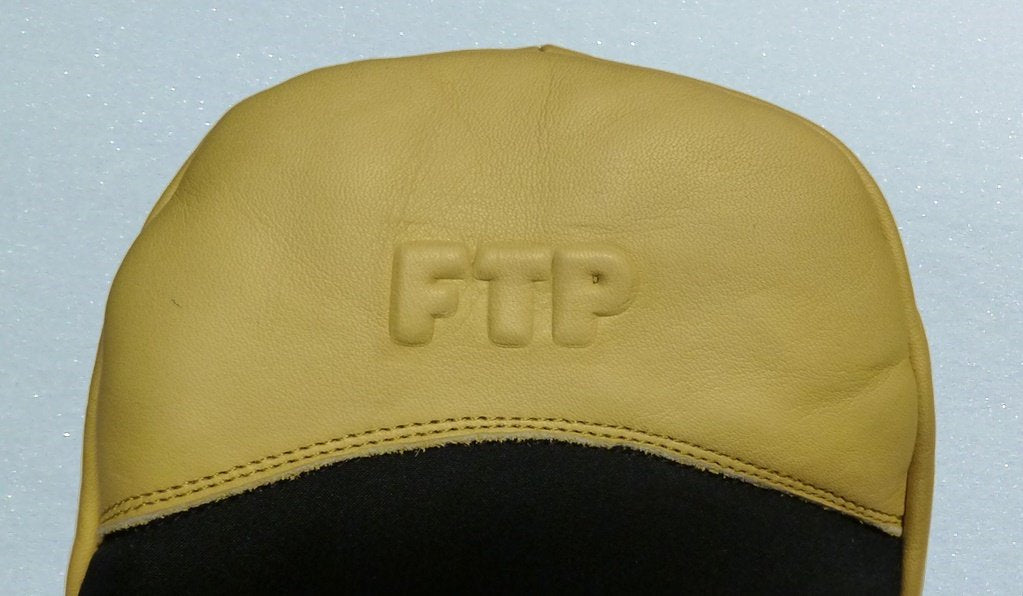 FTP leather emboss mitten