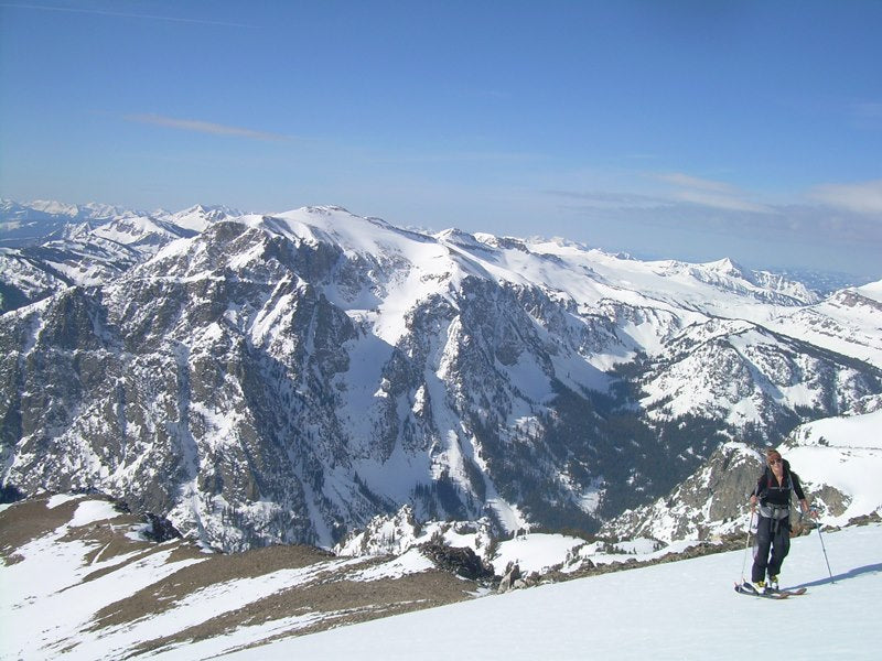 Backcountry skiing Tetons, Wyoming
