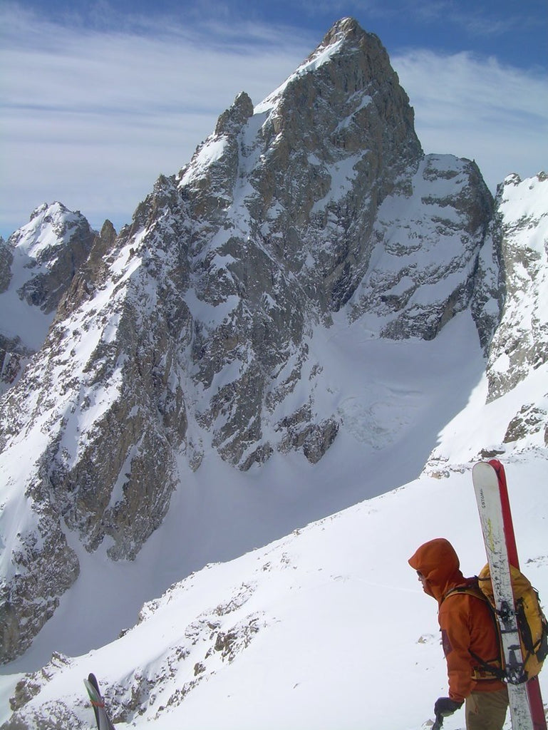Climbing skiing Grand Teton, Wyoming