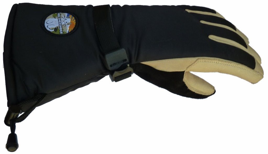 long cuff glove free the powder side view