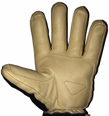 leather palm snowmobiling gloves